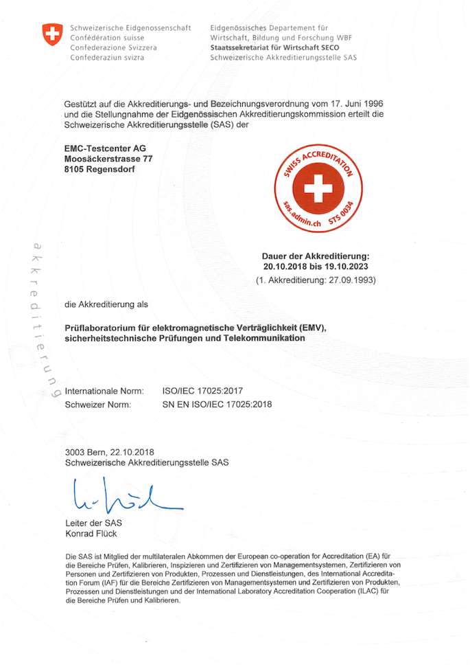 SAS Accreditation 2018 DE